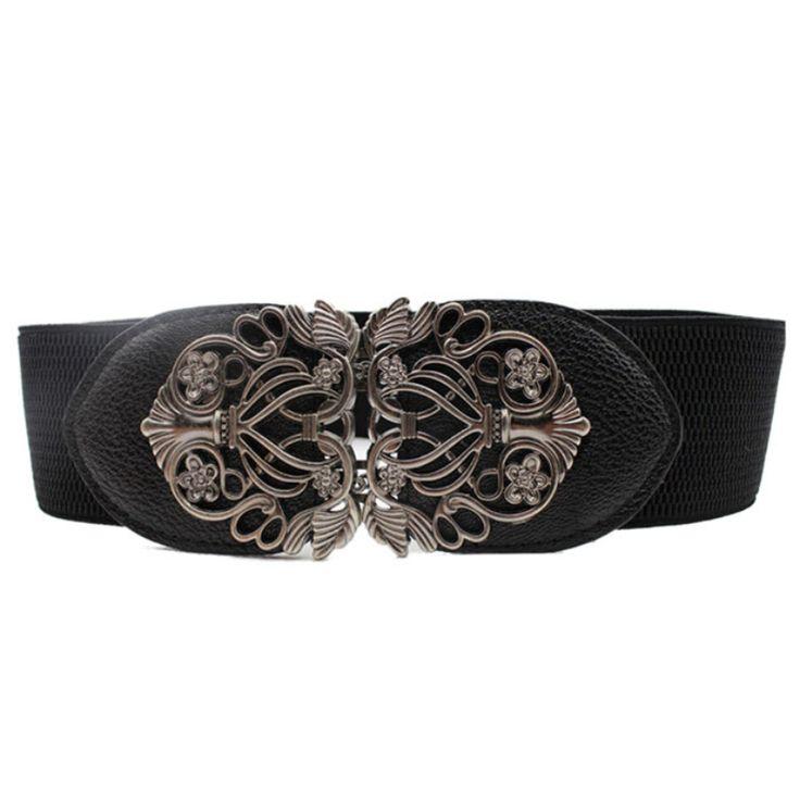 Women Belts Hand-beaded Decorative Girdle Wild Fashion Elastic Belt B077D2F3B6