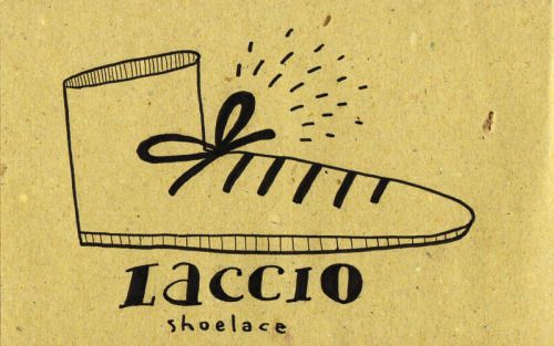 Learning Italian Language ~ Laccio (shoe Lace) IFHN