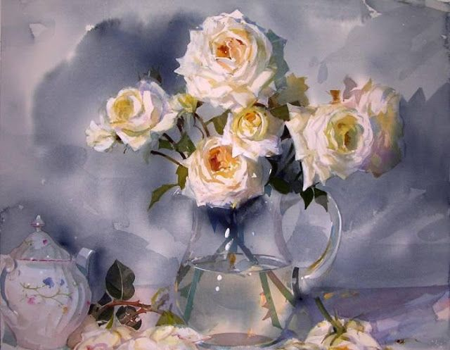 Artimañas: Selección de acuarelas de flores - Flowers - watercolors-  Geoffrey Wynne