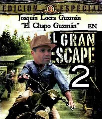 Joaquín el Chapo Guzmán se escapa por segunda vez, en redes sociales reaccionan con memes. Aquí los mejores.