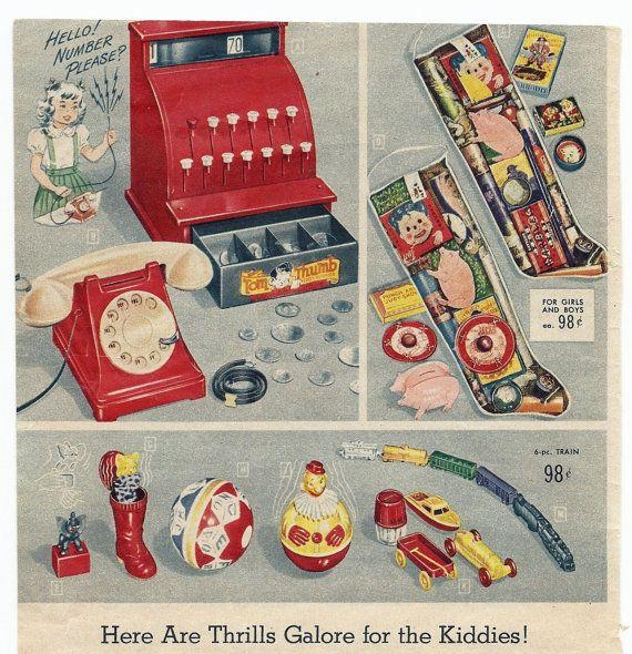 SALE Vintage Spiegel Christmas Catalog Toys Tom by SunshineBooks