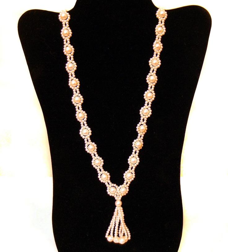 boho pearl wedding necklace: Wedding Necklaces, Pearls Wedding