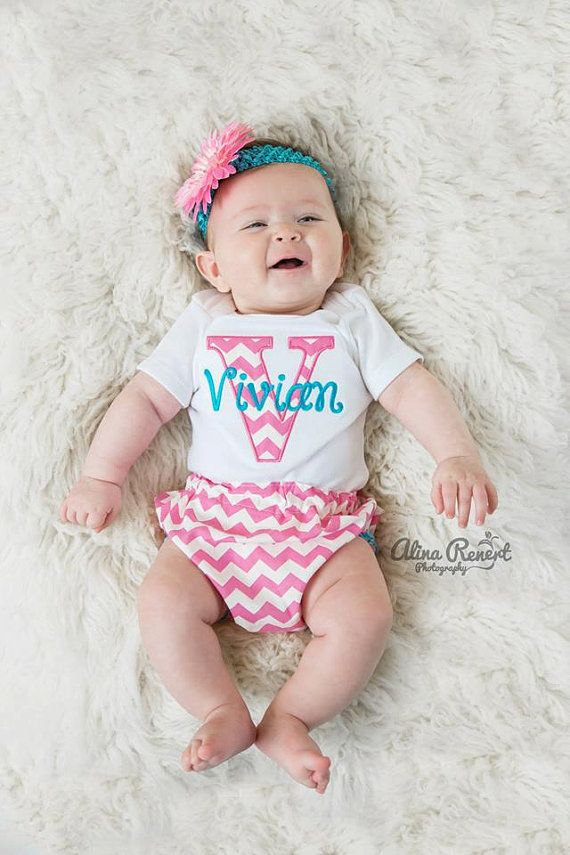 Personalized Baby Girl Clothes Newborn Girl Take Home by LilMamas, $36.90