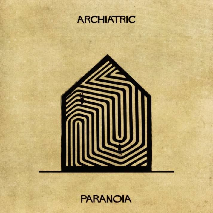 Illustrator federico babinas new series archiatric explores visual representations of mental illness along with an accompanying video