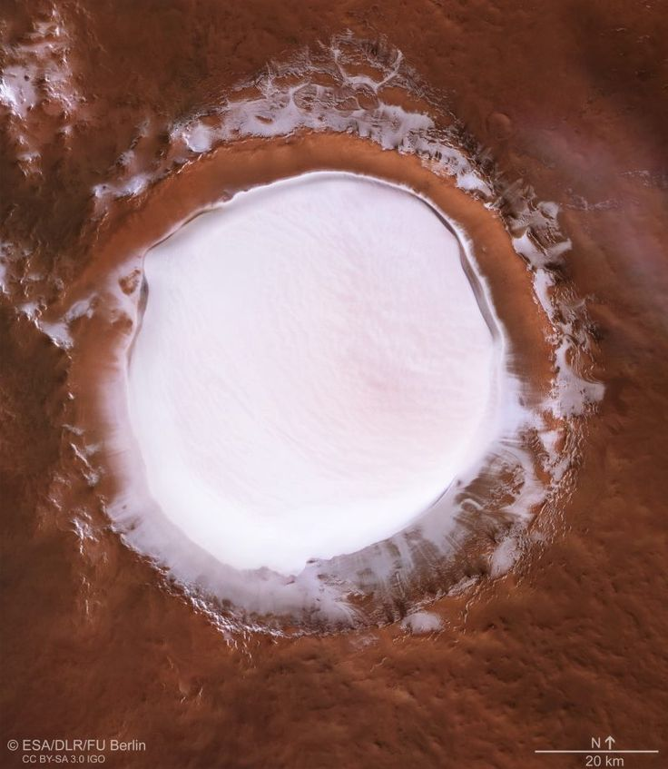 Spacecraft spies ice-filled Mars crater | Space | EarthSky