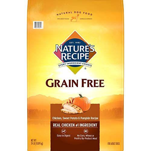 Nature S Recipe Grain Free Easy To Digest Dry Dog Food Chicken Sweet Potato Pumpkin Recipe 24 Pound Dog Food Recipes Sweet Potato Pumpkin Recipe Grain Free Dog Food