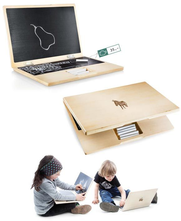 chalkboard laptop! Cool idea for kids who want to use the adult's laptop all the time
