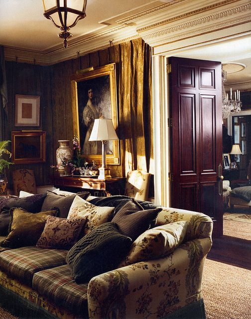 Cozy room especially during the fall and winter months for Ralph lauren decoration