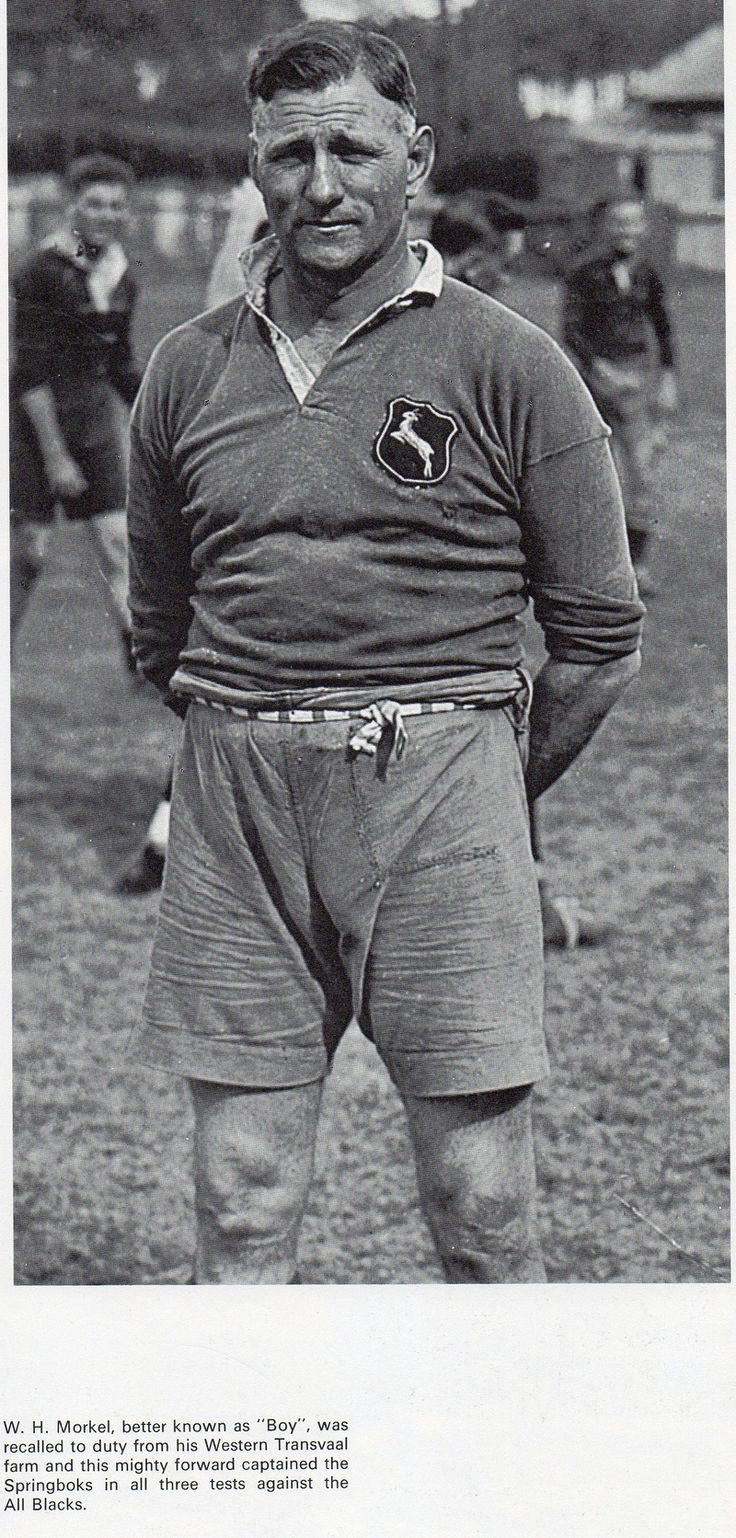 Boy Morkel who captained the Springboks in all three test matches against the 1921 All Blacks.