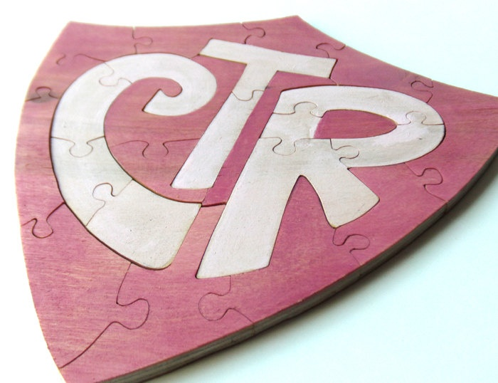 Handmade LDS Choose the Right Ring Puzzle CTR by berkshirebowls