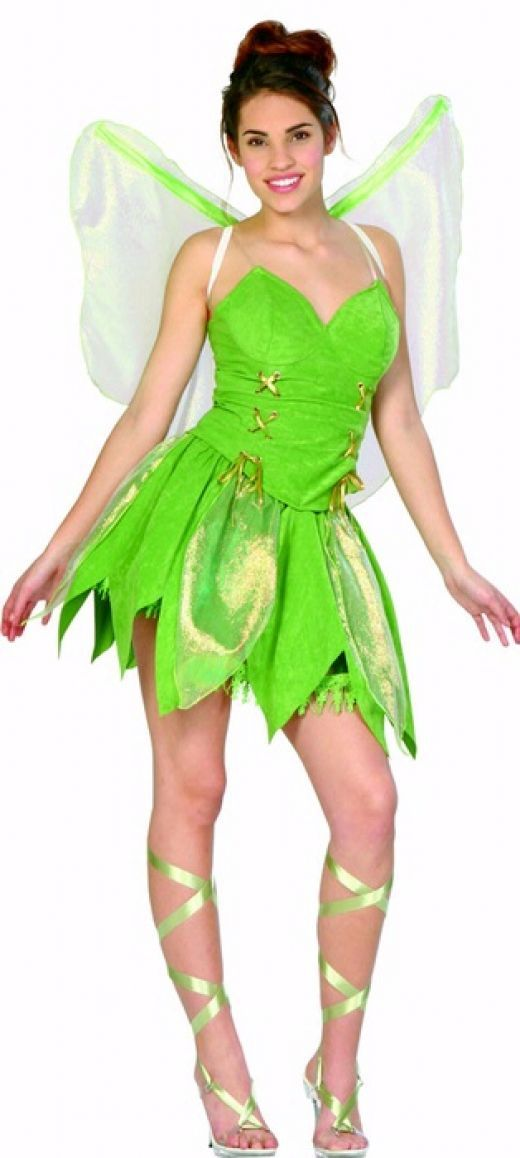 Adult Tinkerbell costume  http://barnaclebill.hubpages.com/hub/tinkerbellhalloweencostumeideas