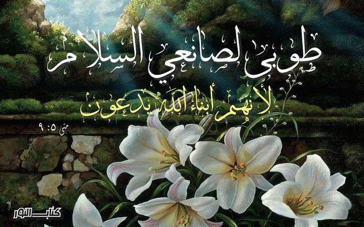 آيات عن البركة والسلام 2 Peace من الكتاب المقدس عربي إنجليزي Biblical Verses Blessed Sunday Holy Bible