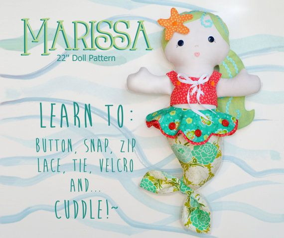 2 PATTERN COMBO Marissa Mermaid Doll and Fishy Friends PDF