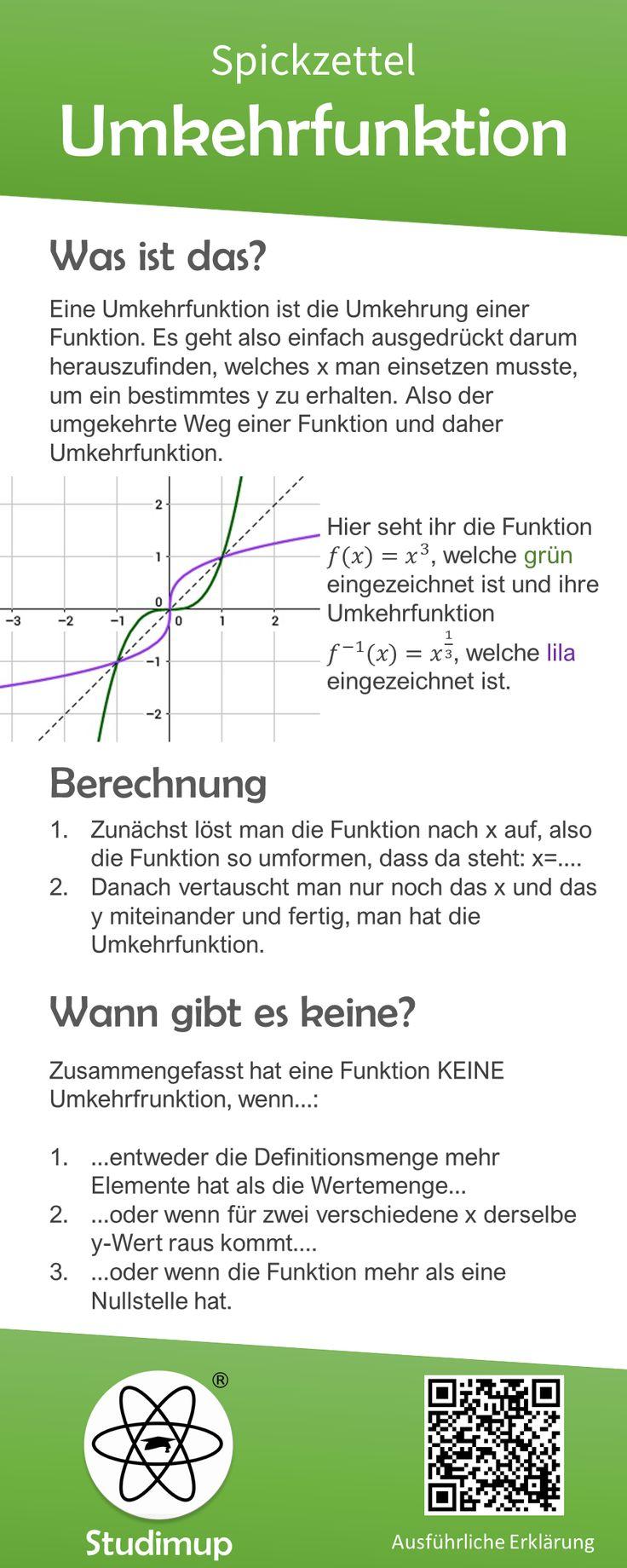 Reverse function cheat sheet