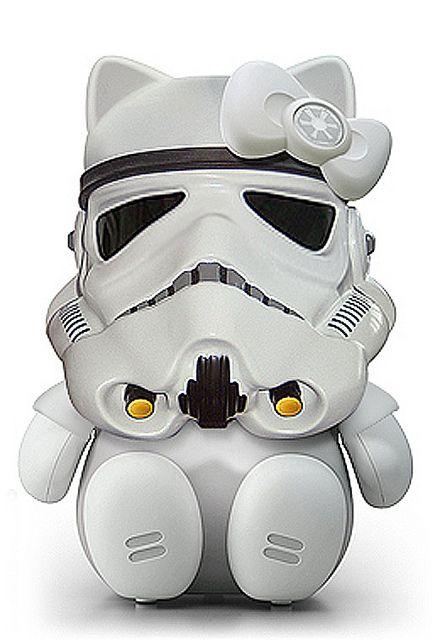 na, wenn das mal nichts für das nerd-töchterchen ist.: Storm Kitty, Storm Troopers, Hello Storm, Star Wars, Hellokitty, Stormtrooper, Storms, Hello Kitty, Starwars