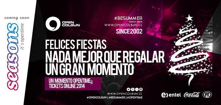 Nada mejor que pasar con los amigos estas fiestas, ojalá el viejito los lleve a todos a Open Colbún 2014 a pasar un gran momento. #opencolbun #besummer #opentime