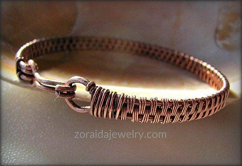 Mens/Womans Copper Wire Woven Bracelet