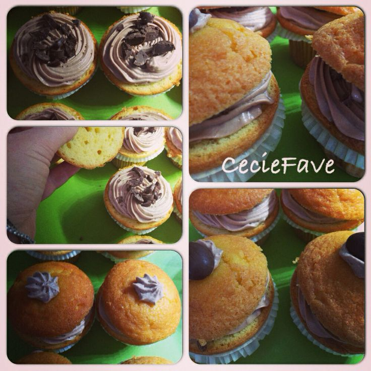 Cupcakes frosting nutella