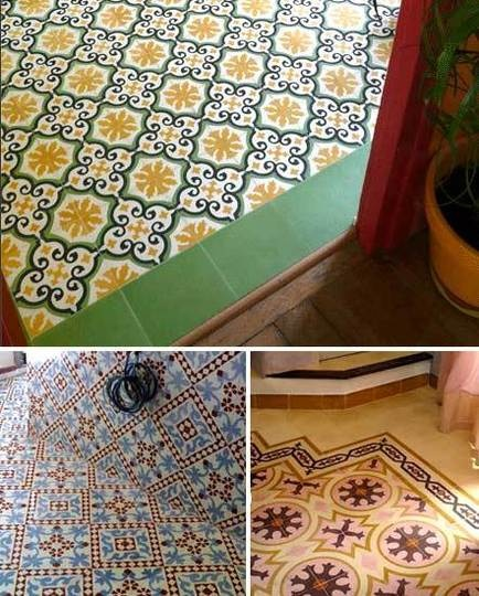 handmade cement encaustic tiles