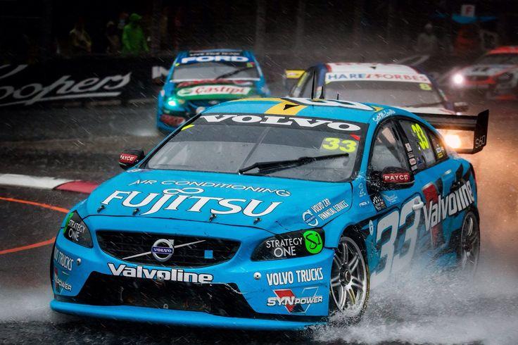 Scott McLaughlin #33 in the rain