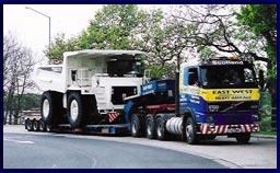 (UK) EAST WEST HEAVY HAULAGE:East West heavy haulage    We are leaders in the field of heavy haulage. We offer a complete service for the movement of abnormal loads, long, high, wide, or heavy, throughout the UK and Ireland.    Our main office is in Beattock, ideally located on the M74, with our other office based in the Central belt midway between Glasgow and Edinburgh.