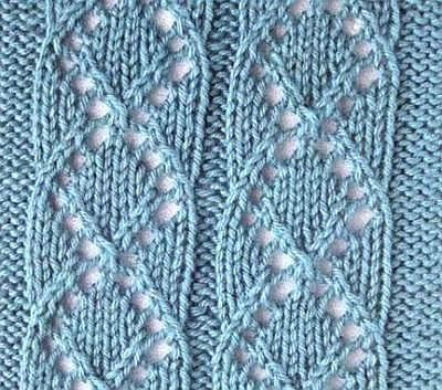 Pattern knitting medallion, eyelet pattern for knitting sweaters, socks, etc.