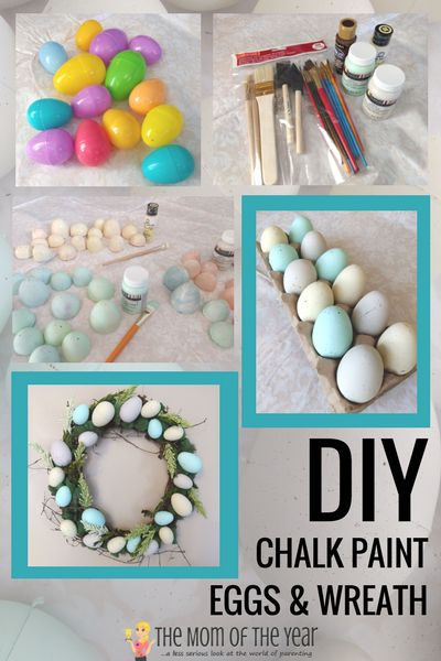 Have scads of Easter eggs on hand? Check out this awesome DIY Chalk Paint Eggs project as the prettiest way to upcyle plastic eggs ever! It's a super-easy, quick, and cheap Easter project for multiple uses--the wreath idea at the end is such a gorgeous way to make your front door shine! Go get the how-to scoop here! #easytofollow #howto #plasticeggs #plasticeastereggs #chalkpaint #chalkpaintproject #chalkpainteggs #Eastereggs #eggs #Easterdecor #Spring