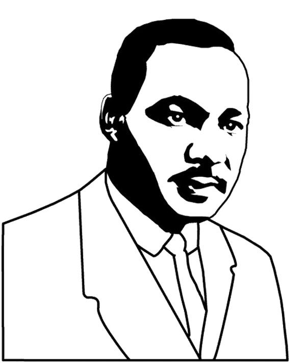 good looking martin luther king coloring page - Martin Luther King Jr Coloring Pages