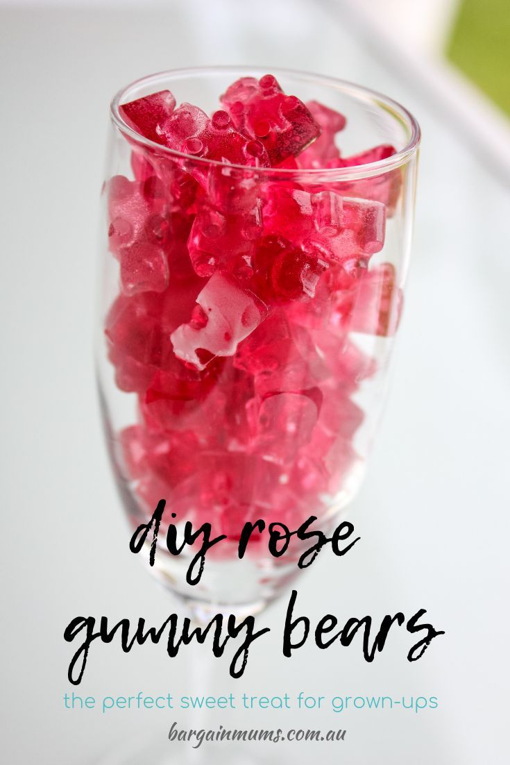 If You Enjoy The Odd Glass Of Rose Wine You Are Going To Love These Adorable And Delicious Diy Rose Gummy Bears In 2020 Rose Recipes Jello Shot Recipes Wine Desserts