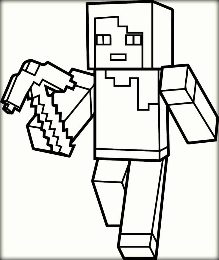 Minecraft Steve Coloring Page Inspirational Minecraft ...