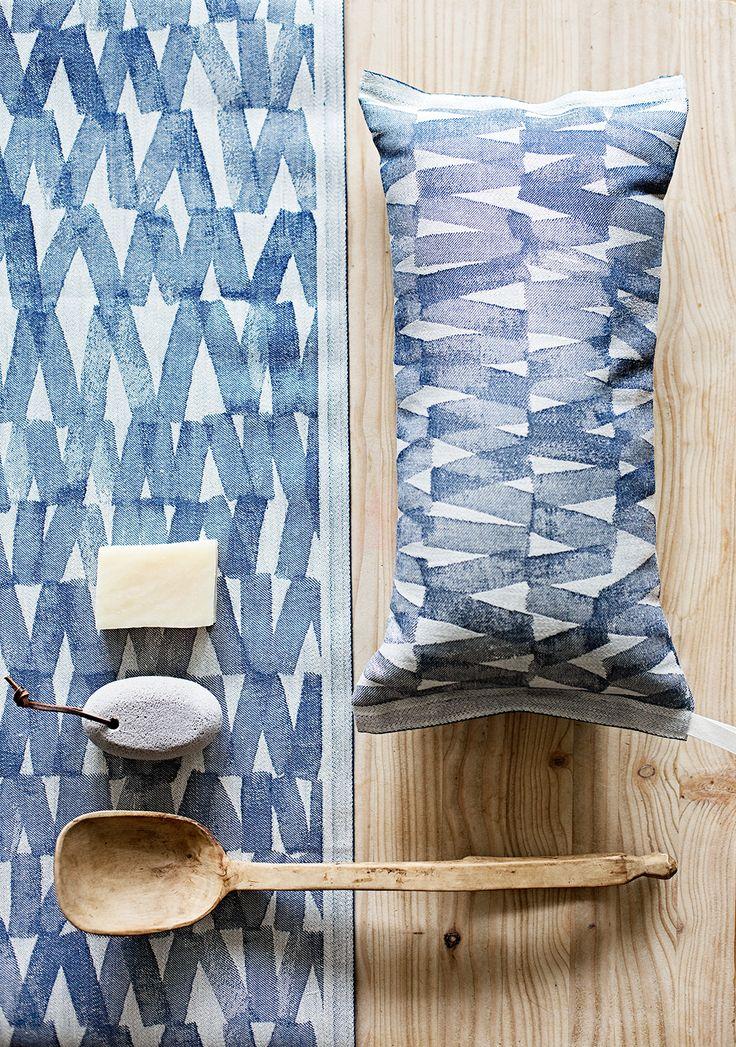 PÄRE sauna pillow and seat cover. Design Reeta Ek. Made in Finland by Lapuan Kankurit.