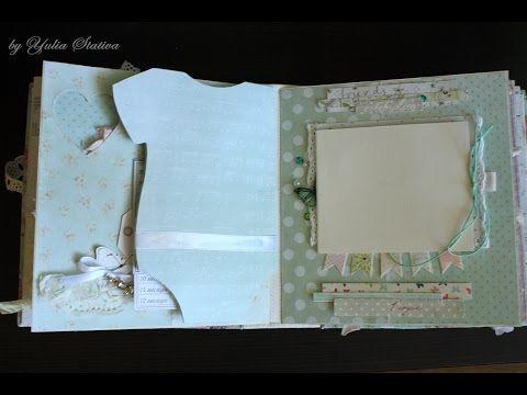Как сделать обложку (последняя часть курса по созданию альбома)-scrapbook cover - YouTube