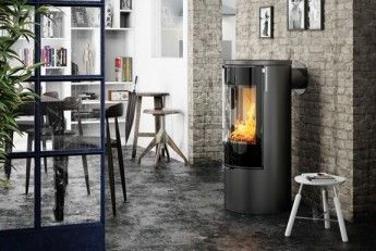 RAIS Viva L 100  #woodburning #stove. Choose among: #colours #sideglass, #topplates #swivelbase#handle - pleanty of different choices to fit your own #interior #deocoration