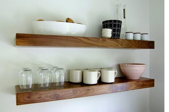 Open Shelving Black Walnut Floating Shelf 48 By