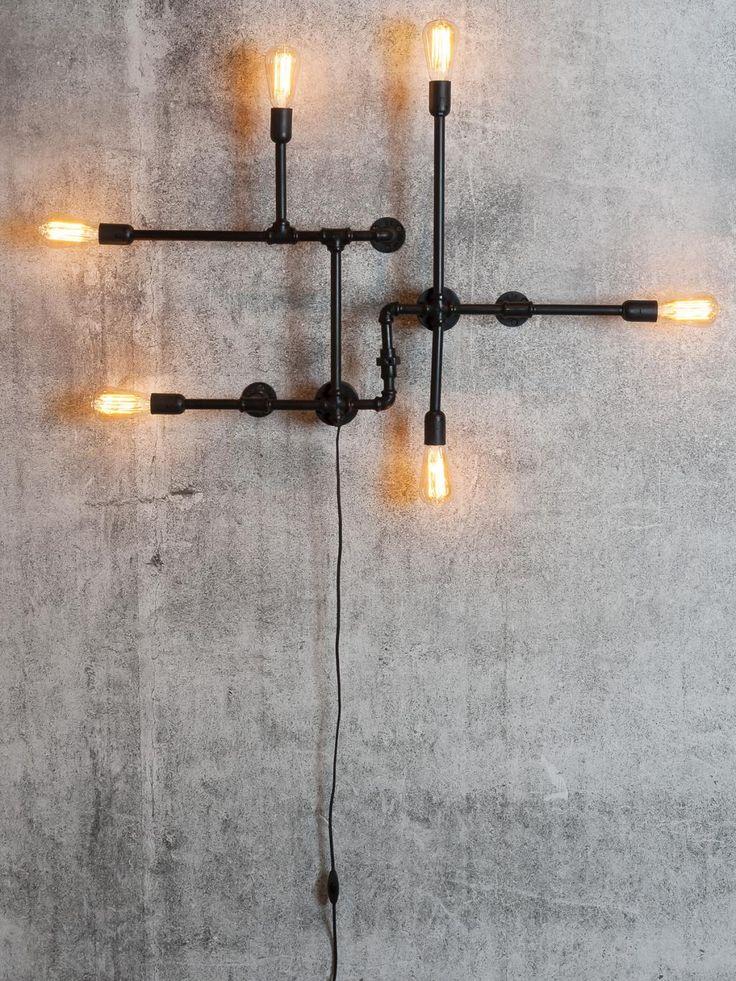 Dit is m! Wandlamp Nashville - zwart - metaal 6-arm - 108x13xh.63cm - It's About Romi