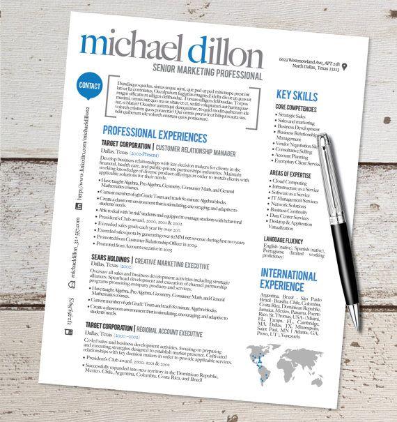 The Michael Resume Design - Graphic Design - Marketing - Sales - Real Estate - Customer Service - Medical - Teaching