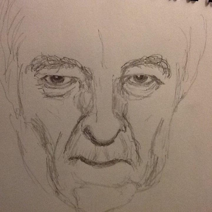 My sketch of poet Seamus Heaney
