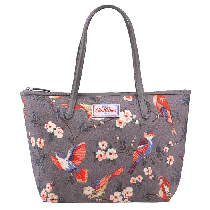 British Birds Medium Leather Trim Tote | How to style a Modern Vintage look | CathKidston