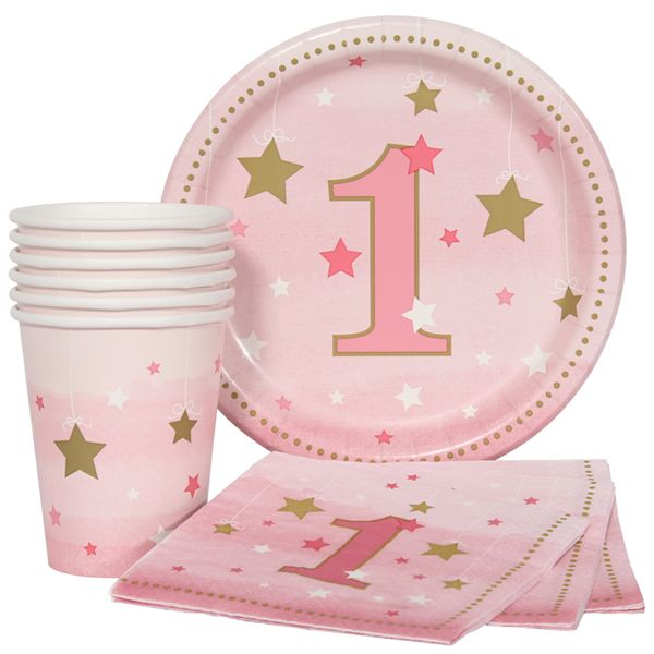 Twinkle Twinkle Little Star Girl 1st Birthday Munch Pack for 8