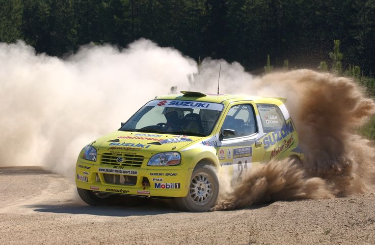 The two-wheel drive Suzuki Ignis of 'Monster' Tajima was developed in the APRC and went onto compete in the WRC.
