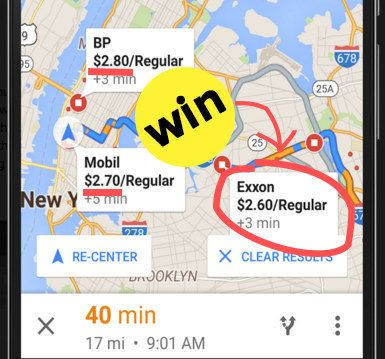 And, just like that, you saved 20 cents per gallon. | Google Maps For Android Now Lets You Compare Gas Prices