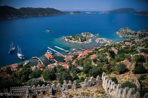 View over Kaleköy Village from the Crusader Castle @ http://themostalive.com/a-backpacker-friendly-cruise/