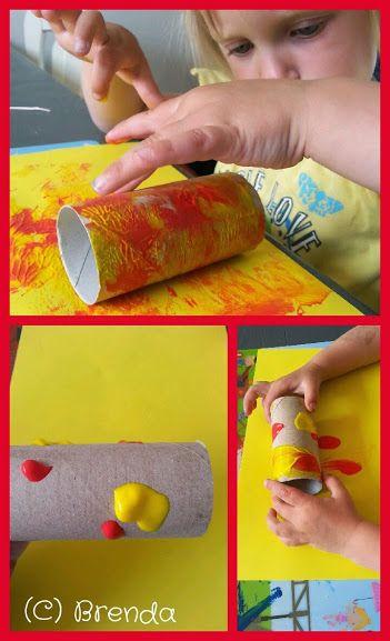 Rol de WC-Rol door de verf! www.devlinderbloem.com