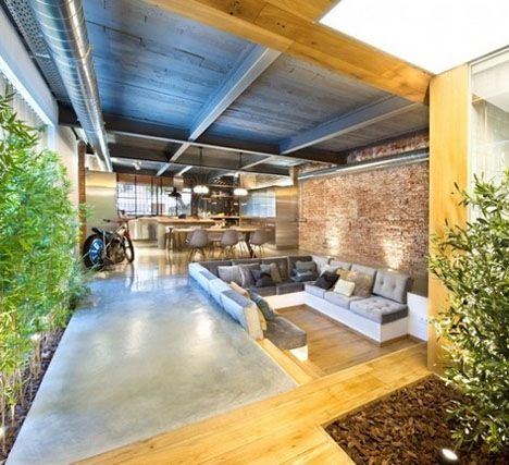 Exposed Duct Wood Metal Beals And Concrete Floors Dont Hinder This Beautiful Airy