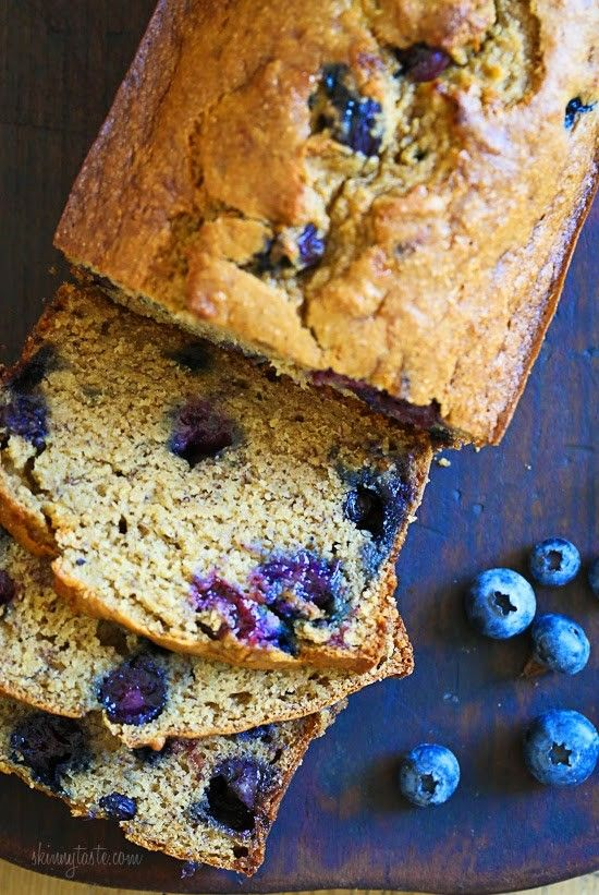 Blueberry Banana Bread Skinnytaste.com Servings: 16 • Size: 1 slice • Points+: 3 pt • Smart Points: 3