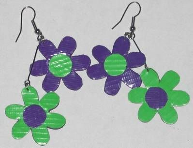Duct Tape Flowers | Duct Tape Earrings - JEWELRY AND TRINKETS