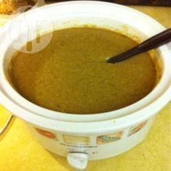 Crème de maïs végétalienne à la mijoteuse @ qc.allrecipes.ca