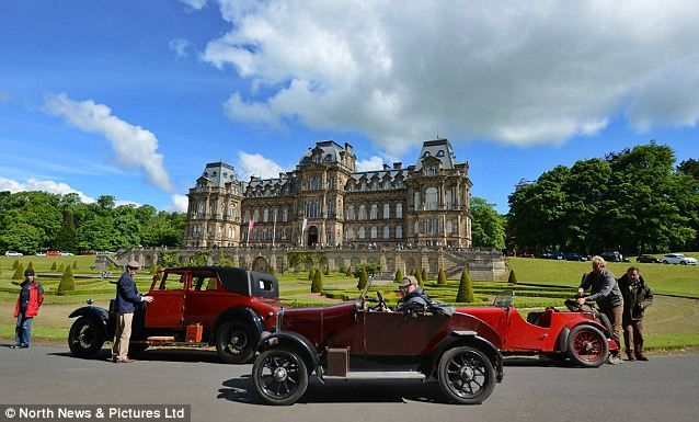 Sunday drive: The classic car event begins and ends at the Beamish Open Air Museum in Chester le Street, Co Durham.