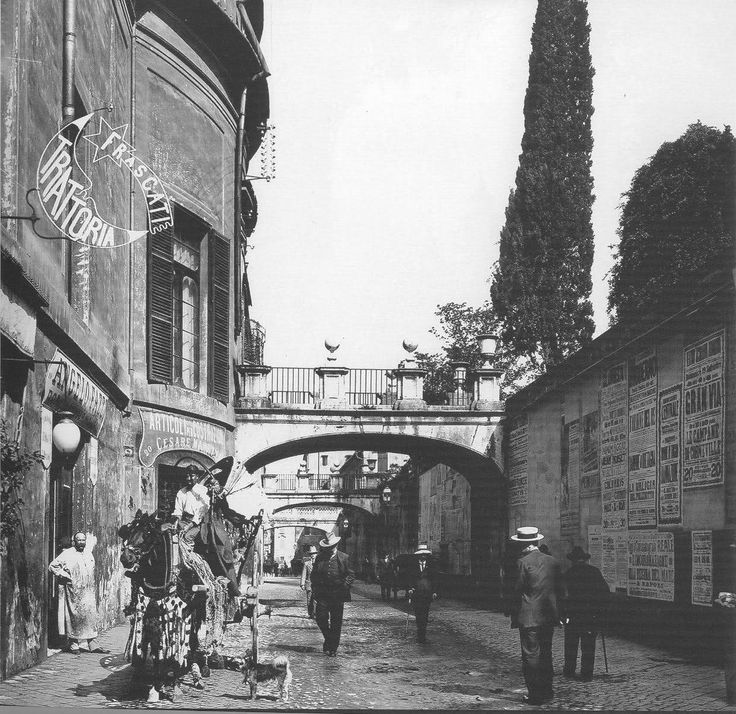 roma sparita anni 20 - Via della Pilotta