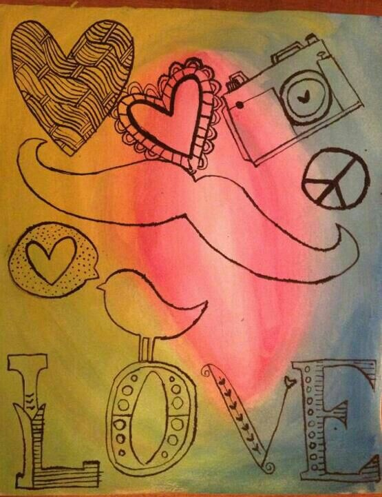 Acuarela y tinta china... Lovee! Love! Love!